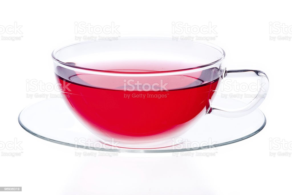 Glass cup of red tea royalty-free stock photo