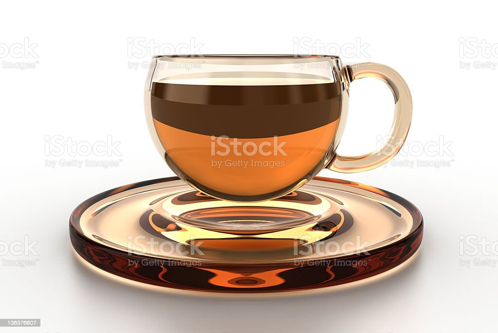 Glass cup royalty-free stock photo