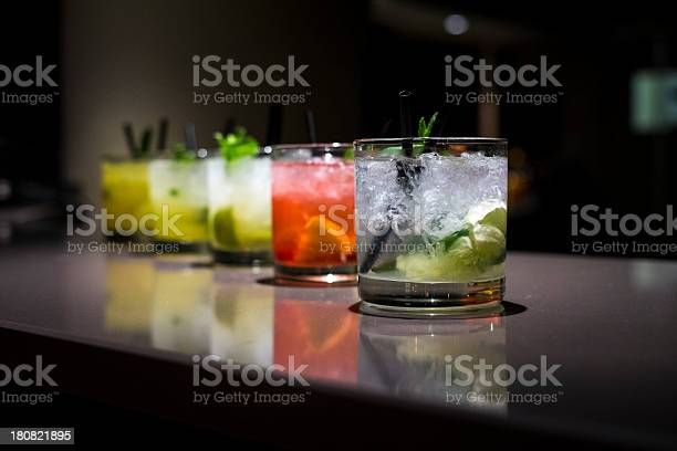Glass cups filled with different flavored mojitos picture id180821895?b=1&k=6&m=180821895&s=612x612&h=mfvfjfguq8pprv7b7pguht6czzicoxqkg9ef2pkibec=