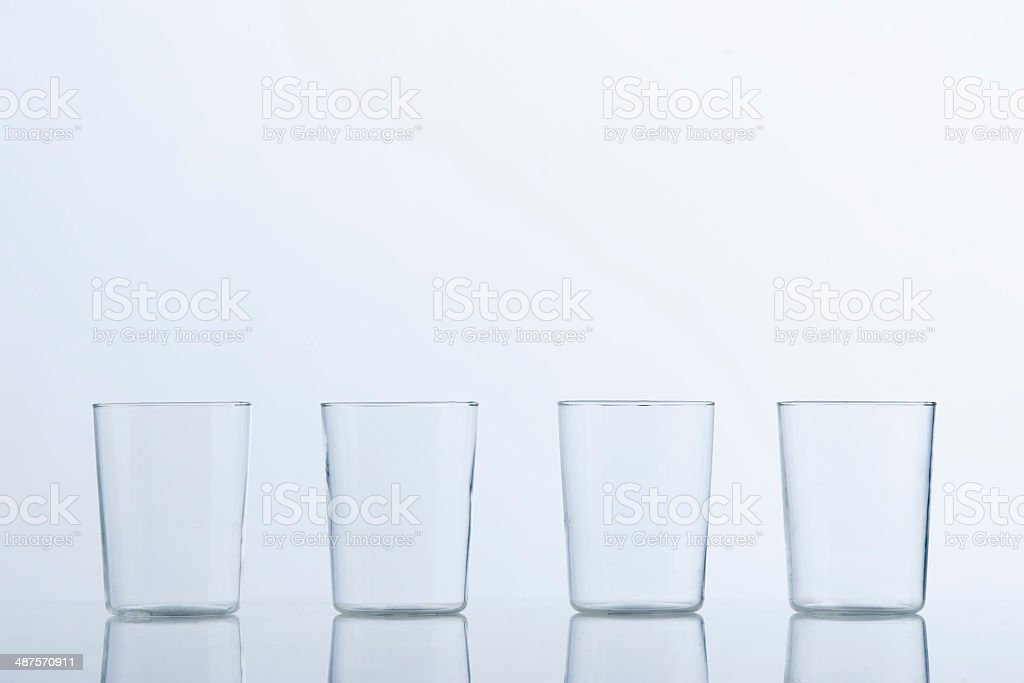 Glass cups stock photo