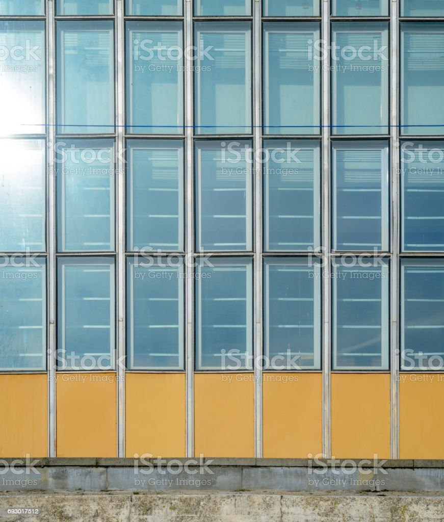 Glass curtain wall texture stock photo