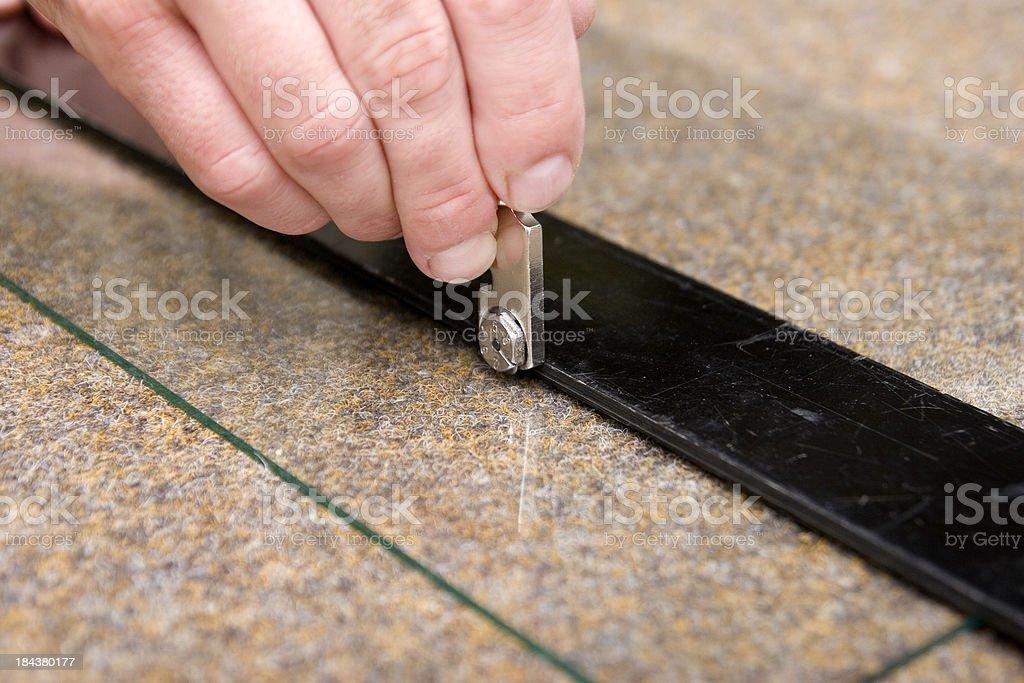 Glass Cutting stock photo
