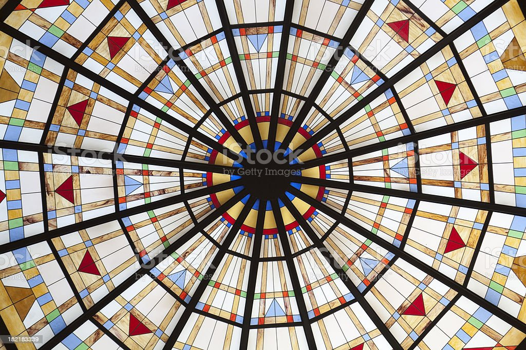 glass dome roof royalty-free stock photo