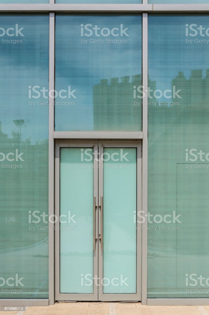 Glass doors and windows stock photo