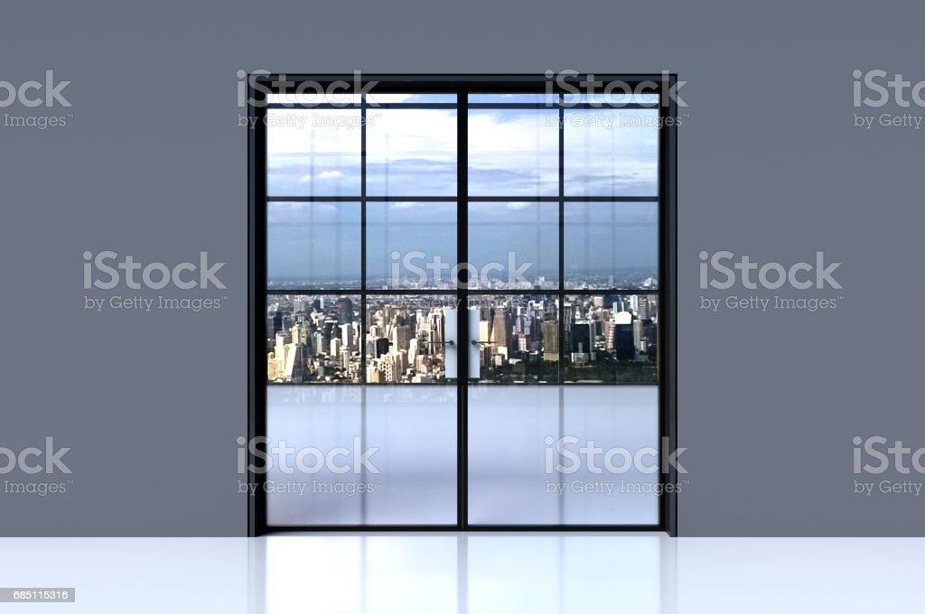 Glass doors. royalty-free stock photo