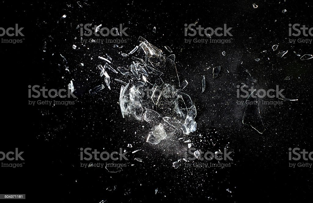 glass  explosion stock photo