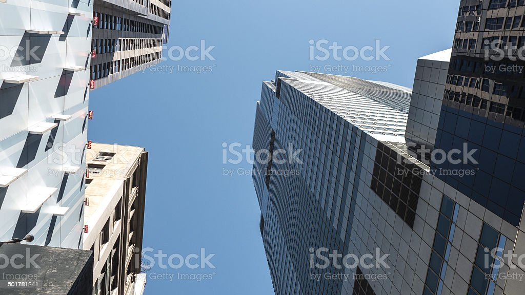 Glass Exterior Office Buildings New York City royalty-free stock photo