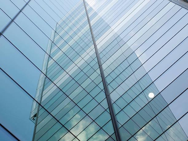 Glass facade corner stock photo