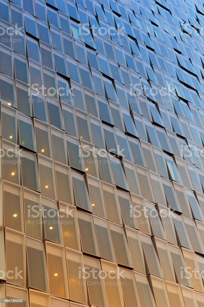 glass facade of modern building royalty-free stock photo