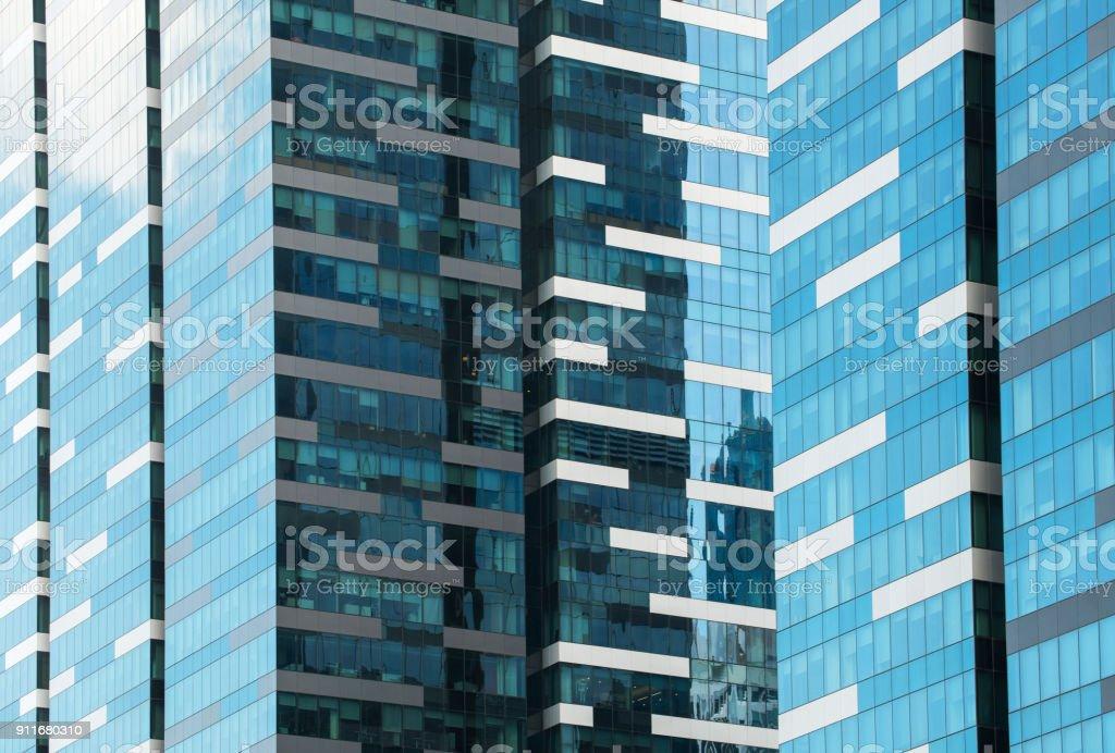 Glasfassade des modernen Stadt hohen Gebäuden – Foto