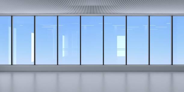 fachada de cristal del interior de rascacielos - window fotografías e imágenes de stock