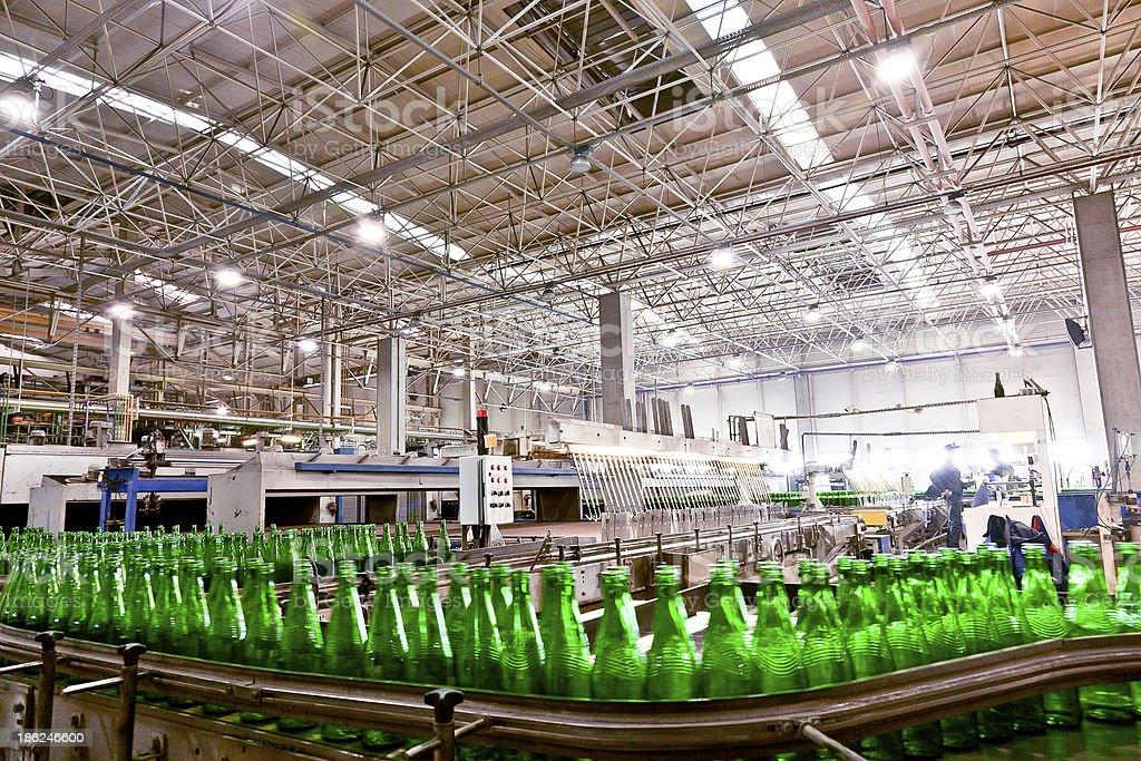 Glass Factory Interior stock photo