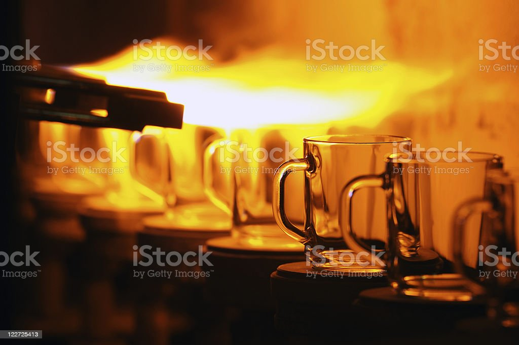 Glass factory royalty-free stock photo