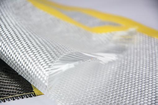 Glass Fiber Composite Raw Material Background Stock Photo