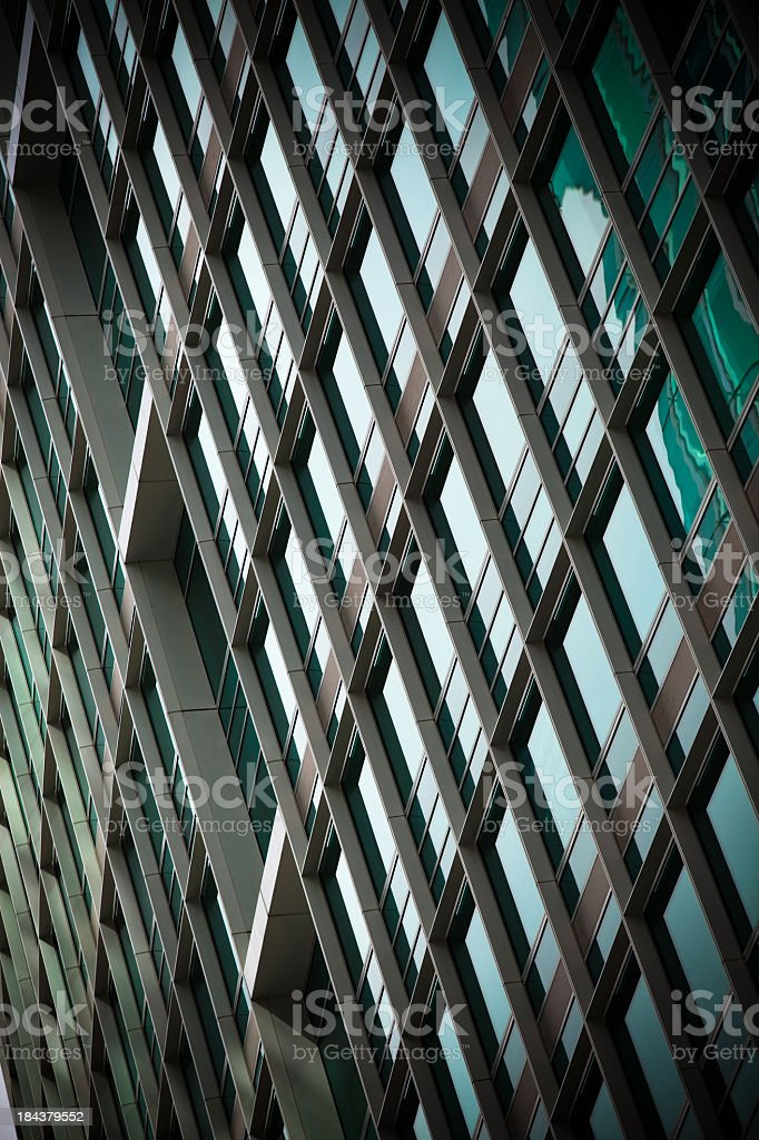 Glass Financial District Office Building royalty-free stock photo