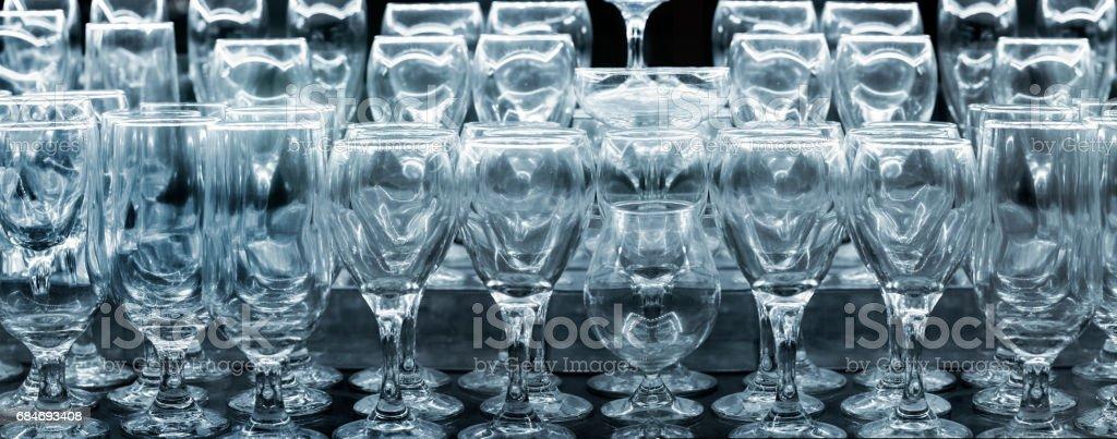 glass for dinner stock photo