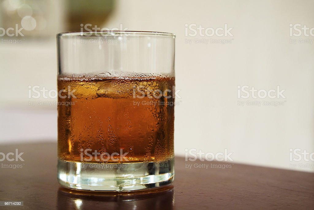 glass from whiskey royalty-free stock photo