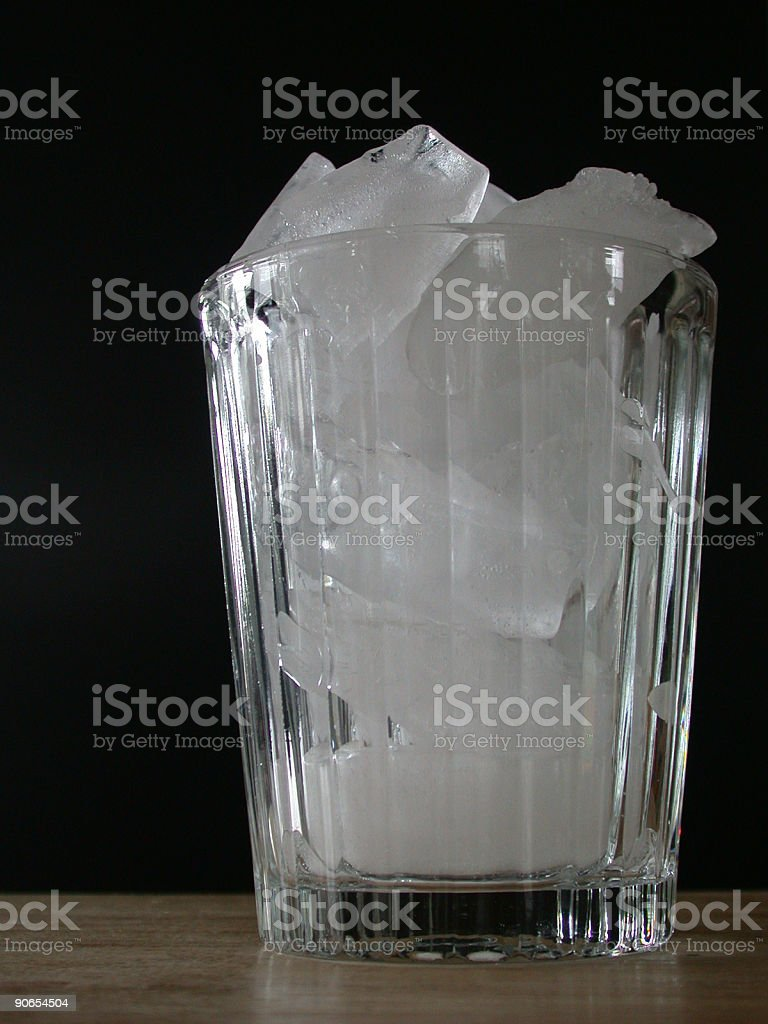 Glass full of Ice... stock photo