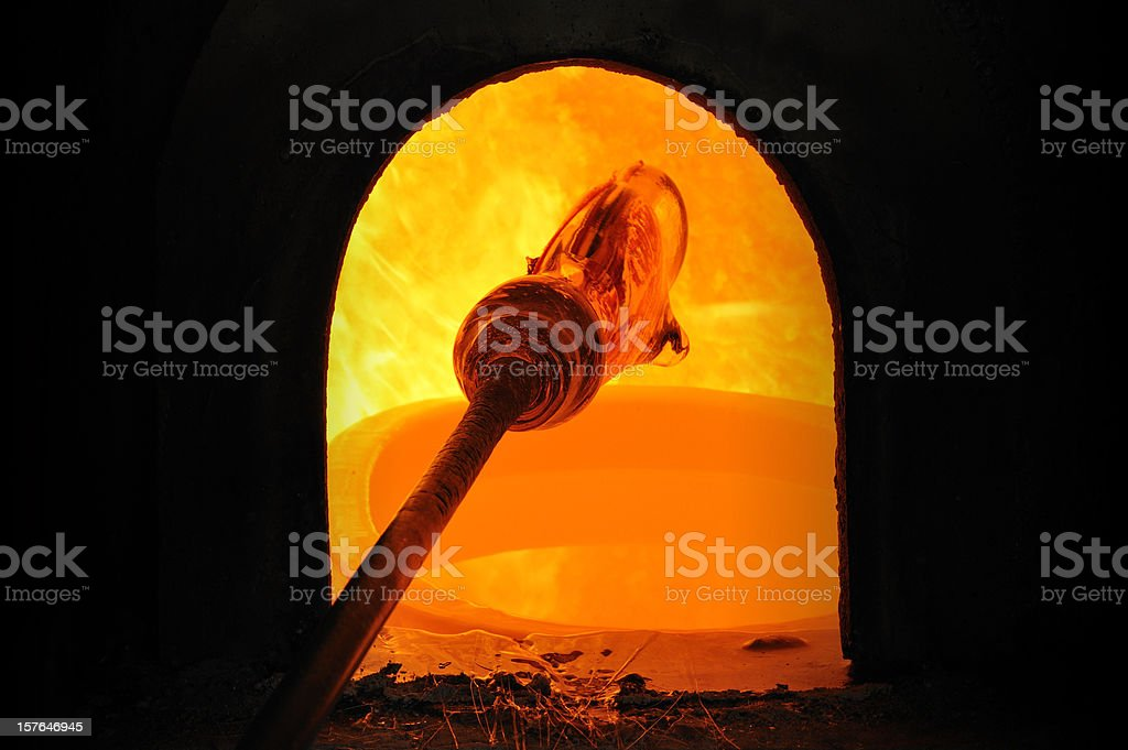 Glass furnace royalty-free stock photo