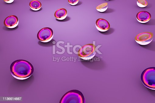 istock 3D glass geometric shapes object with