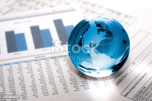 istock glass globe business. Global Market 167454627