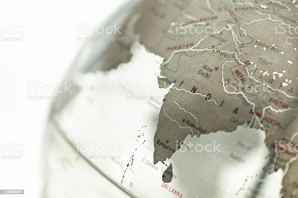 Glass globe - India stock photo