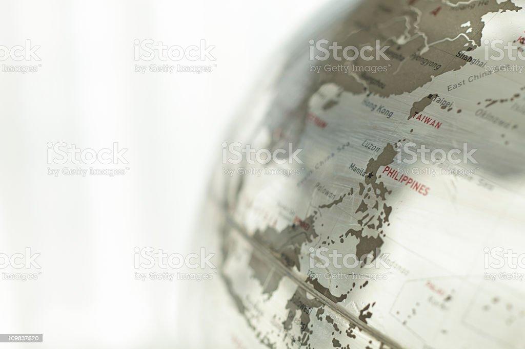 Glass globe - Philippines stock photo