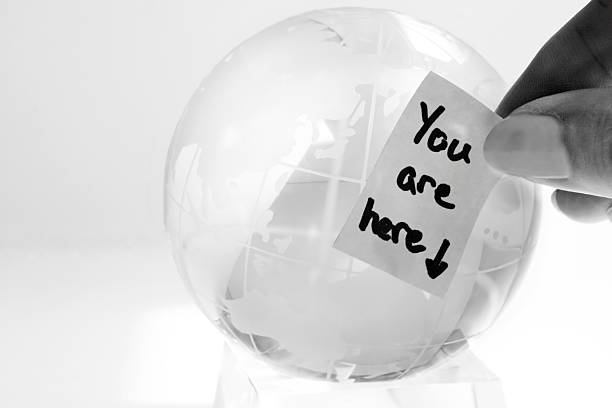 Glass Globe with a Message stock photo