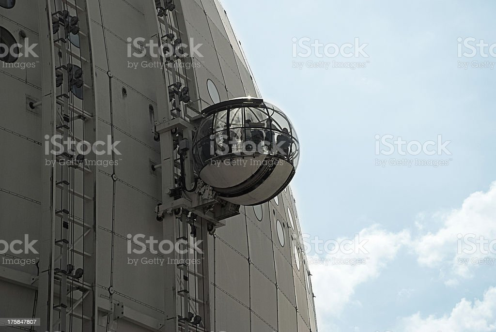 Glas Gondel auf den Stockholmer Globe arena – Foto