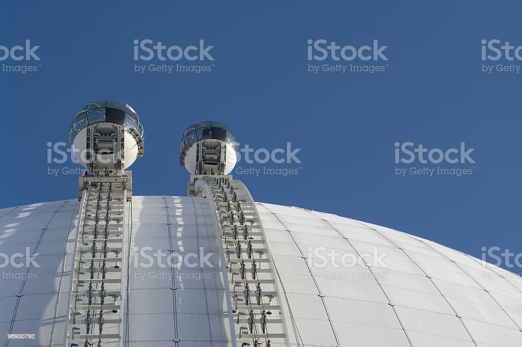 Glass gondolas, Globe SkyView royalty-free stock photo