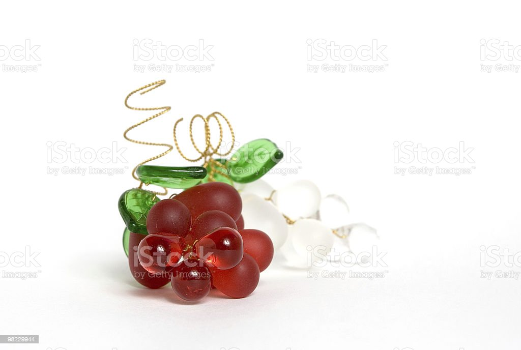 Glass grapes royalty-free stock photo