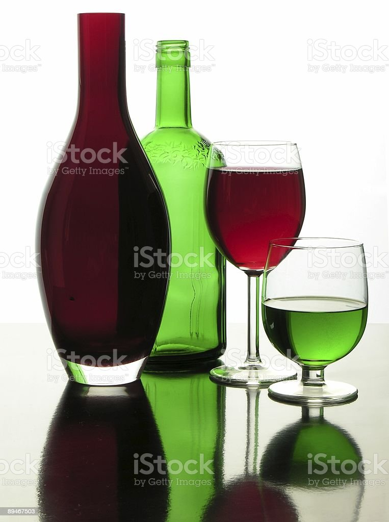 glass green and red transparent composition royalty-free stock photo