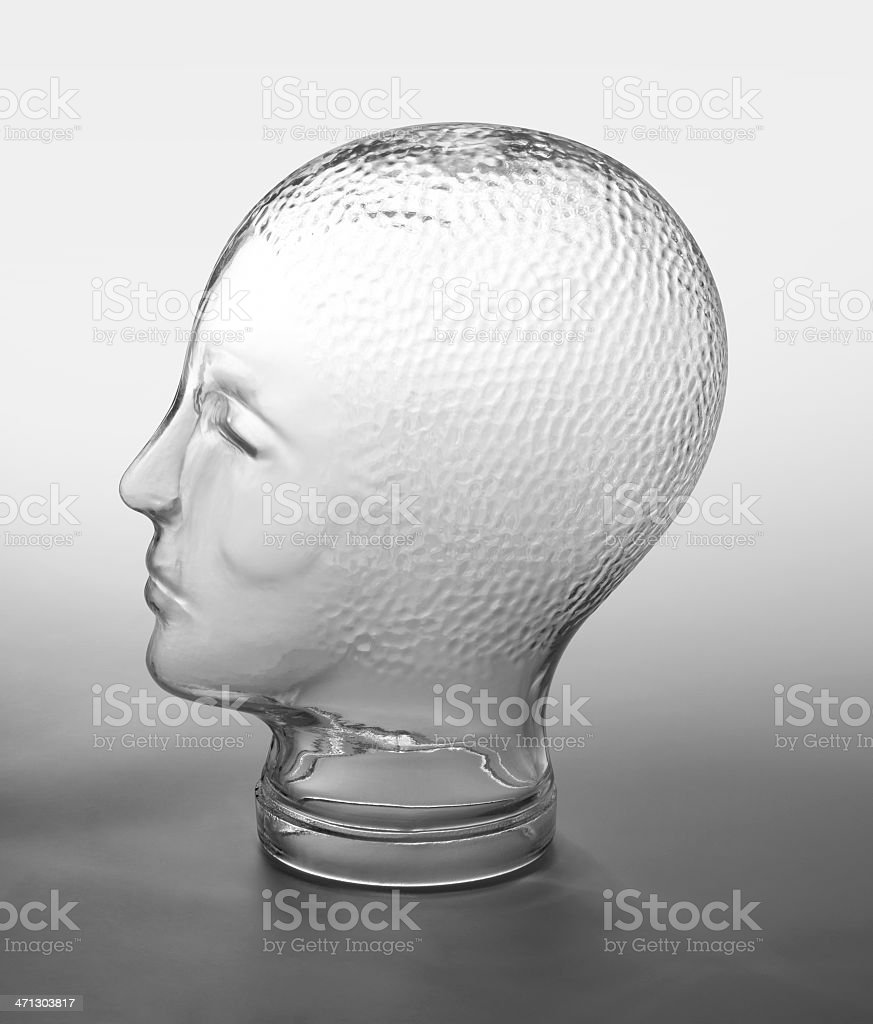 glass head profile royalty-free stock photo