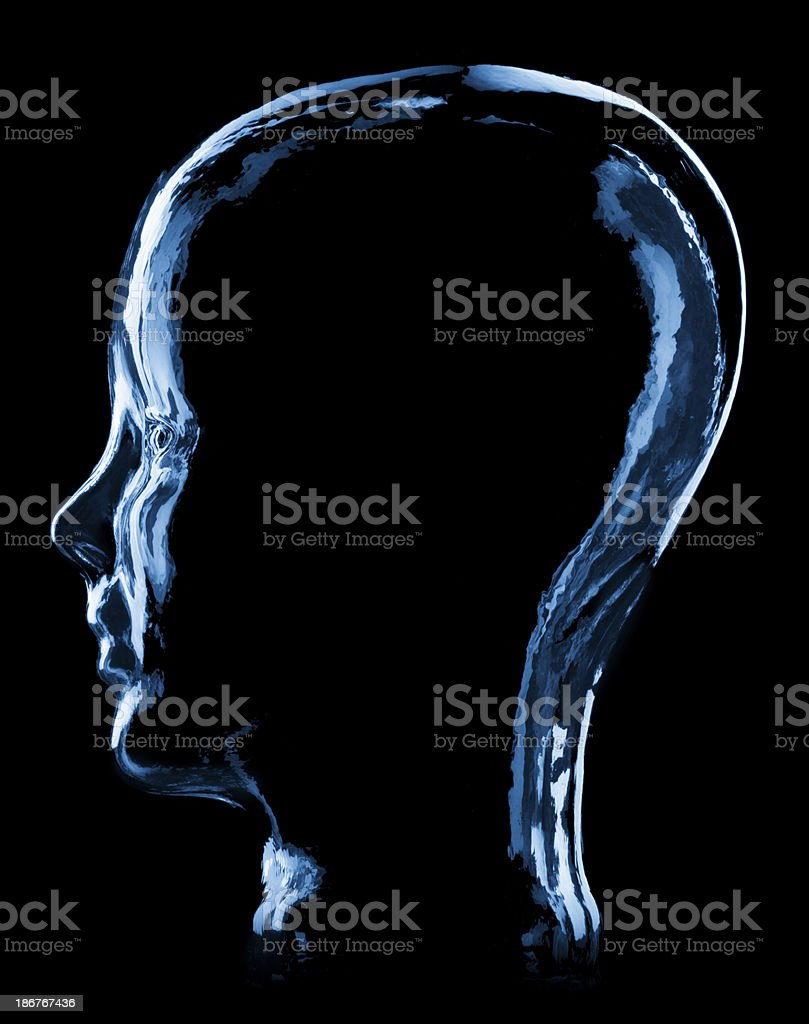 Glass Head Side View royalty-free stock photo