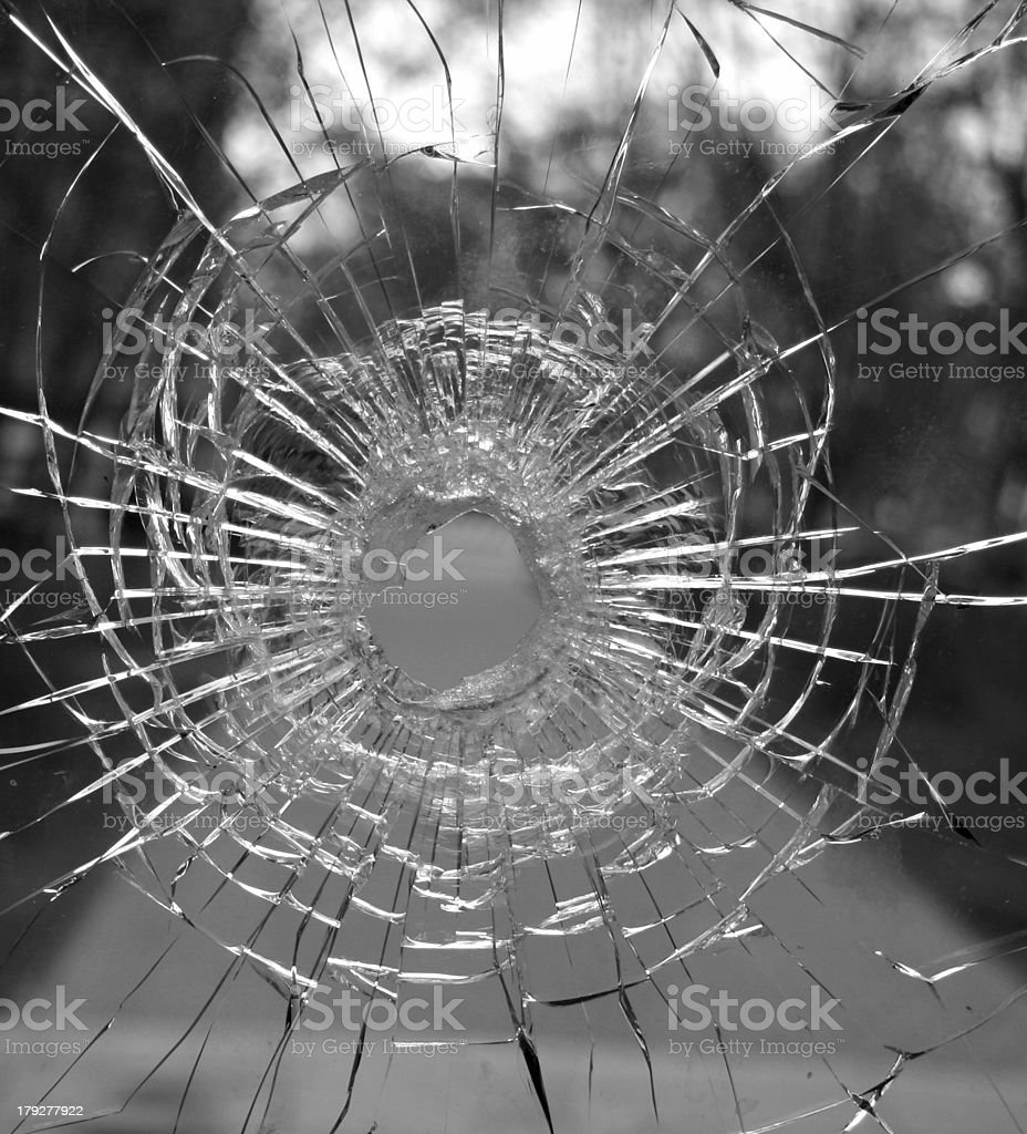Glass hole royalty-free stock photo