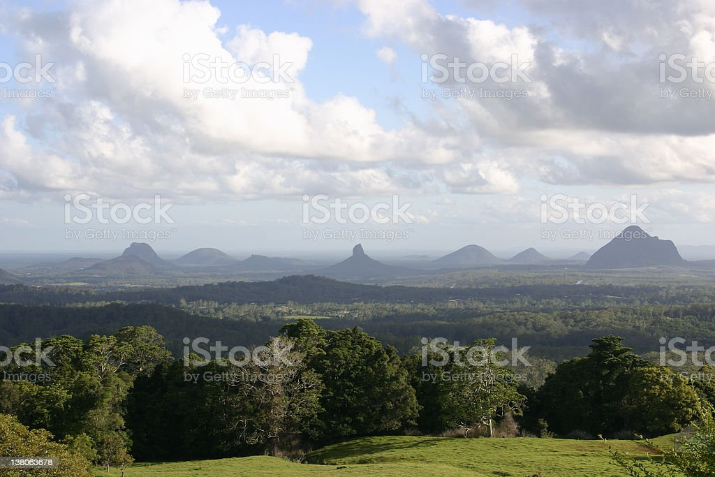Glass House Mountains Landscape stock photo