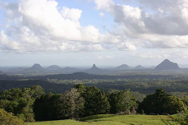Glass House Mountains Landscape stock photo
