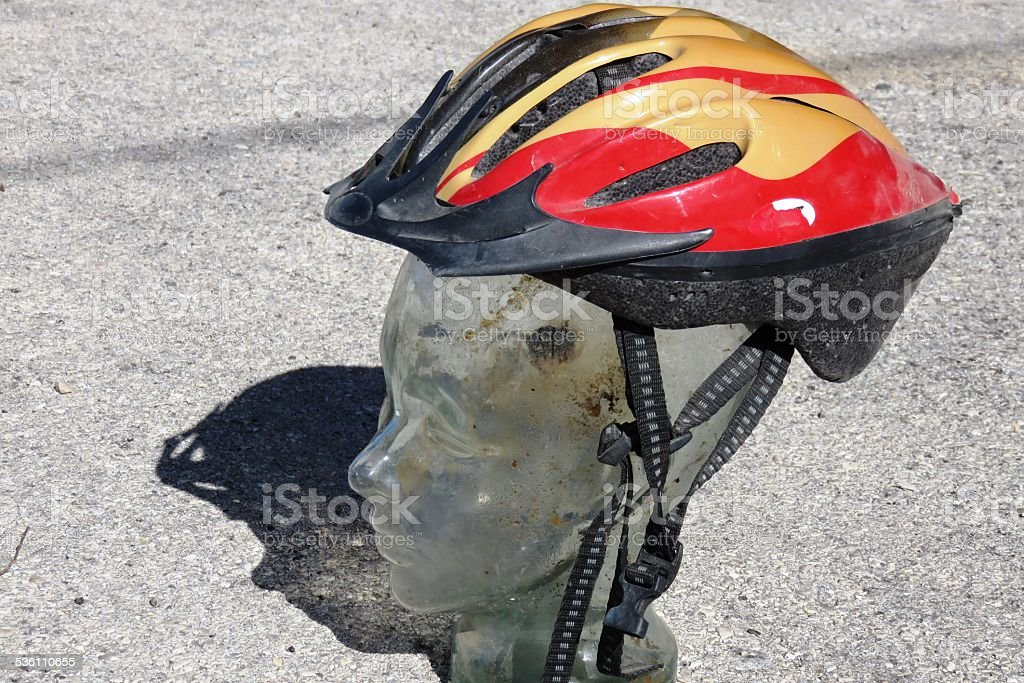 Glass human head stock photo