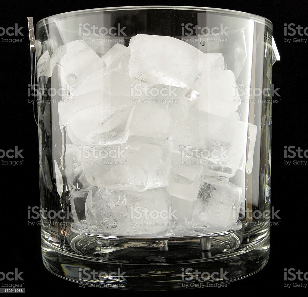 Glass ice bucket royalty-free stock photo