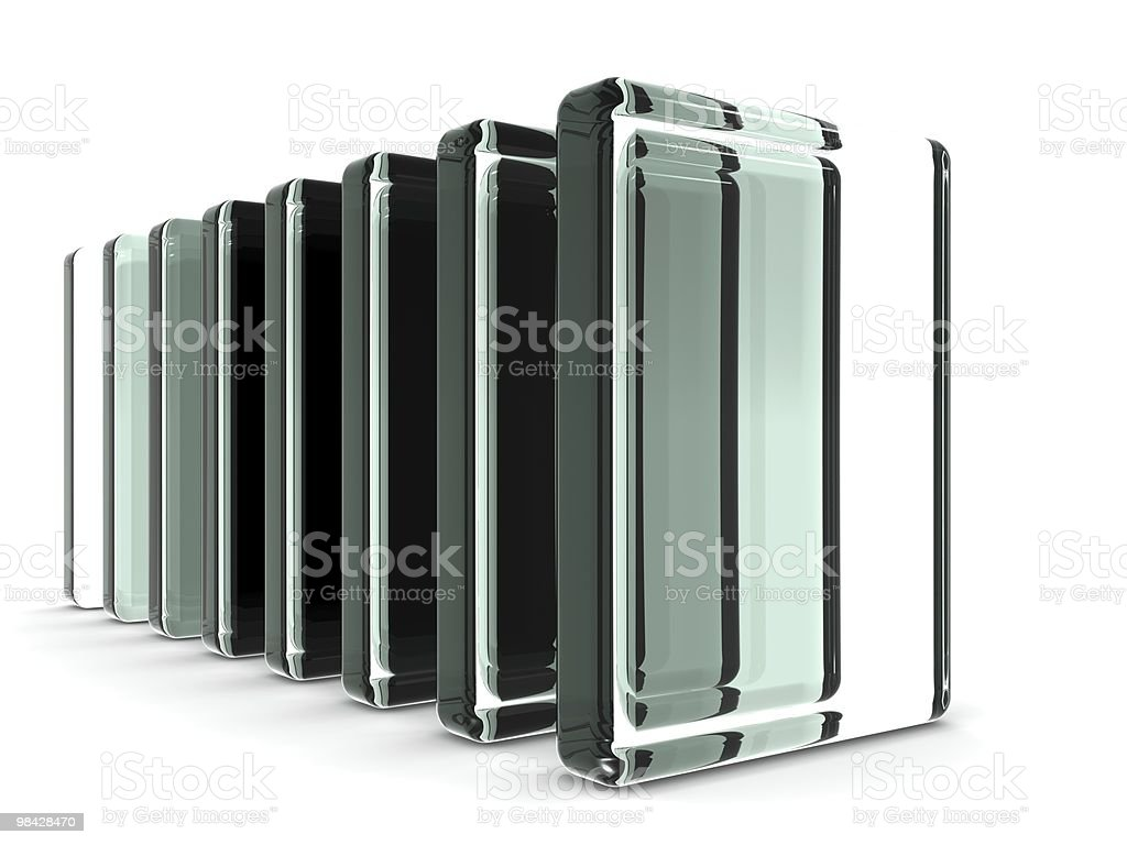 Glass industry object displaying royalty-free stock photo