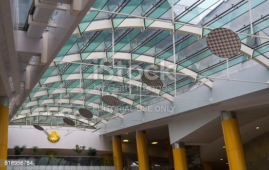 istock Glass Interior in Modern Public Library 516956784