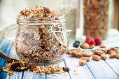 Chunky Nutty Granola for Healthy Snacks & Breakfast