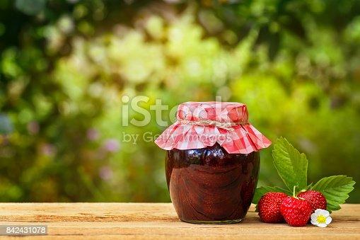 istock glass jar of strawberry jam 842431078