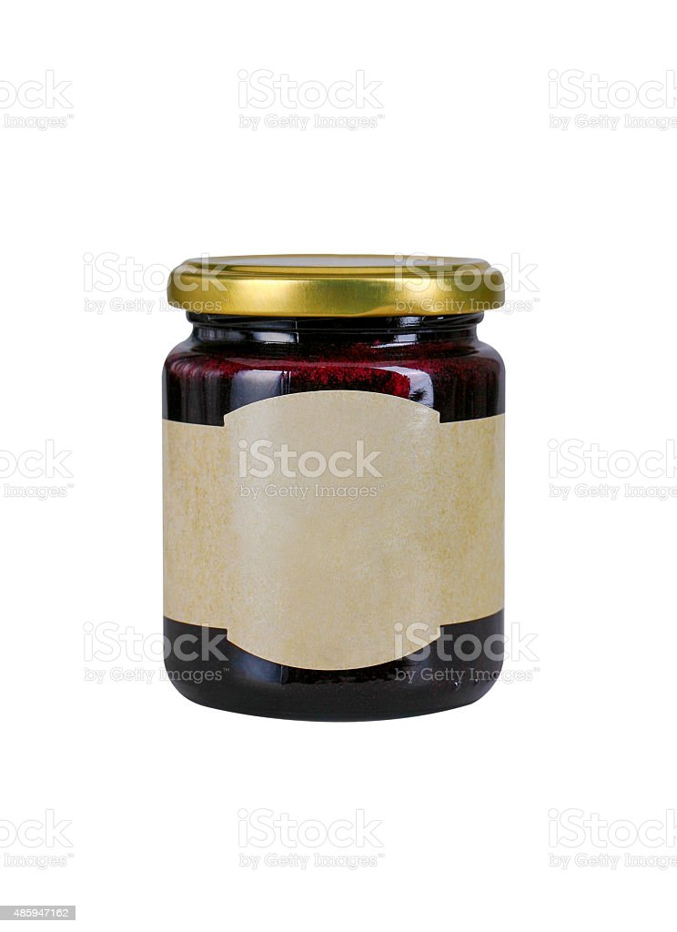 Glass jar stock photo