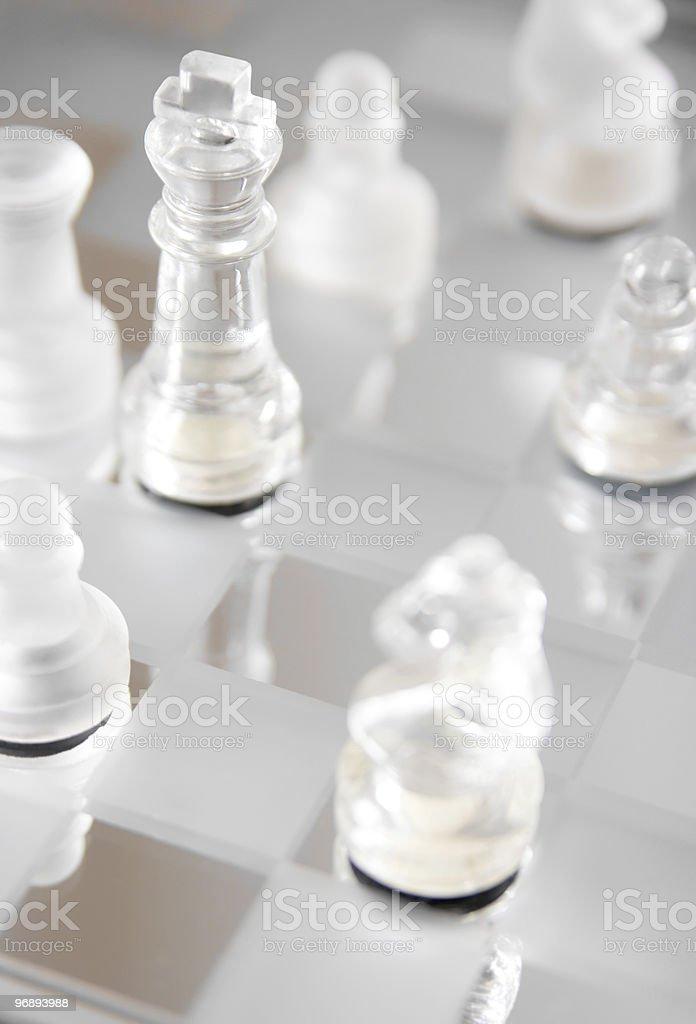 Glass king figure. royalty-free stock photo