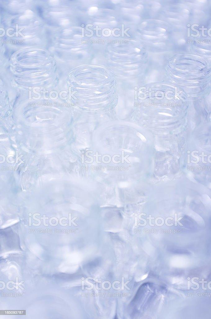 Glass laboratory bottles royalty-free stock photo