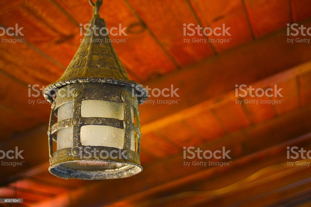 Glass lamp royalty-free stock photo