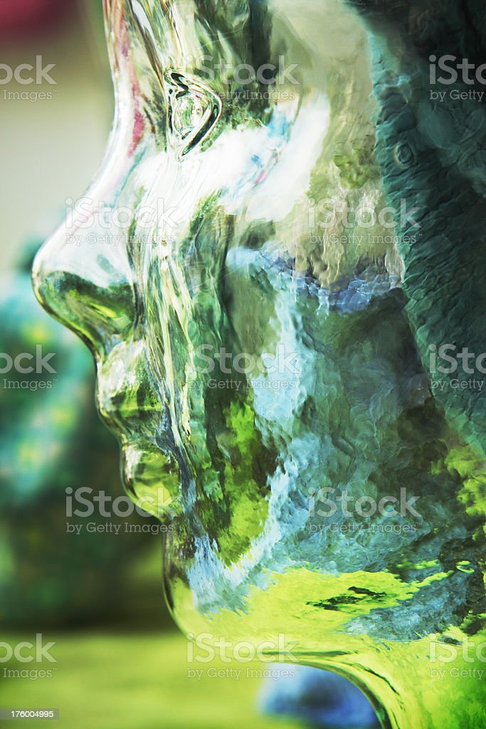 Glass Mannequin Face Child Model royalty-free stock photo