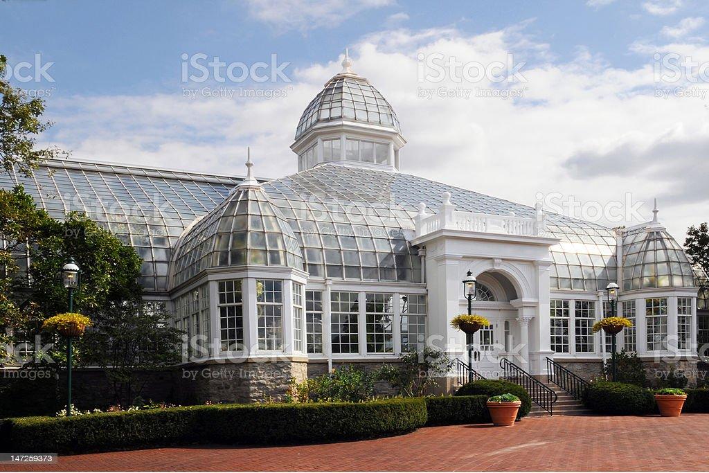 Glass Mansion stock photo