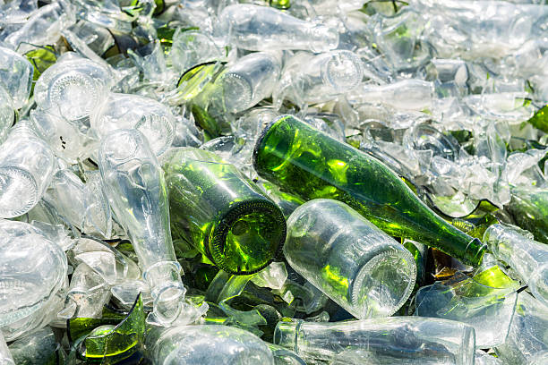 glass manufacturer recovery of waste bottle bank stock pictures, royalty-free photos & images